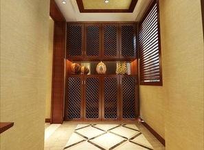 东南亚风格客厅地砖拼花装修效果图