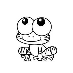 大眼青蛙简笔画