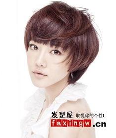9款尖脸长脸适合的女生短发发型