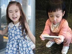 韩国6岁小萝莉美照走红 与可爱 小四月 萌照比拼