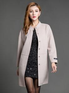 唐朝时尚大气中长款羊毛双面呢大衣tqy52319