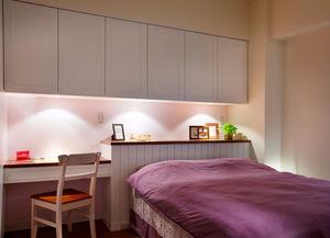 优雅美式卧室床头吊柜设计图