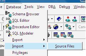 toad连接oracle后,想导入表数据,网上说用database里import的table data,可是我的选项怎么没有这个啊