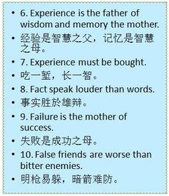 英语谚语经常考