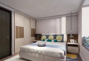 卧室衣柜红木色搭配什么样的床-优库网