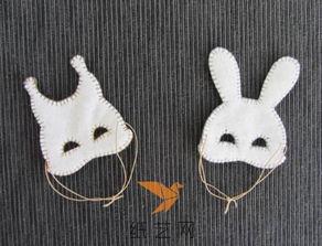 圣诞节礼物小动物面具制作教程