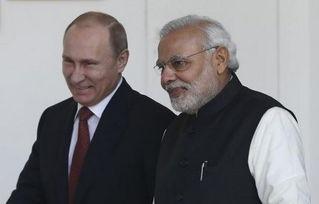 莫迪称俄是印首要防务夥伴普京赞俄印友谊