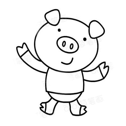 幼儿园大班卡通小猪的简笔画图片