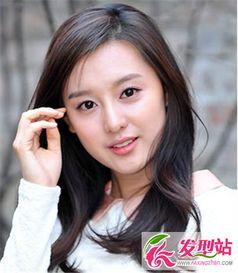 温婉韩式中发女生 打造清新纯美气质