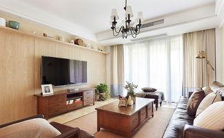 实木客厅背景墙 装修效果图