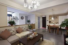 成都蓝光锦绣城混搭风格二居室装修效果图 80平米8万装修设计案例 成都房天下家居装修网
