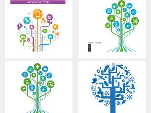 科技树智慧树ppt树结构png透明素材模板下载12.14mb