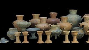 焦家新石器时代遗址出土的部分随葬陶器。(