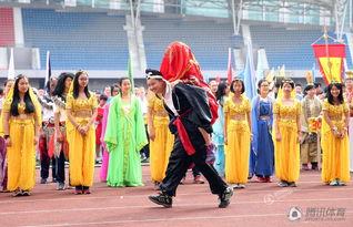 高清 杭州一中学举办 中外名著 运动会