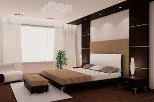 黑胡桃色床搭配衣柜