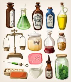 香水瓶子等各种瓶子素材