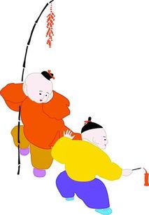 一起放鞭炮简笔画 一起放鞭炮图片欣赏 一起放鞭炮儿童画画作品