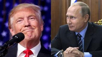 网络合成图:美国总统特朗普、俄罗斯总统普京