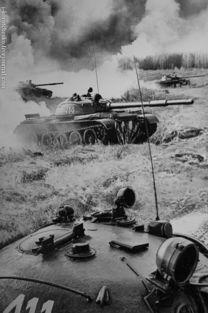 t-62坦克群冲锋.