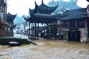 江西婺源降暴雨众多古村被淹