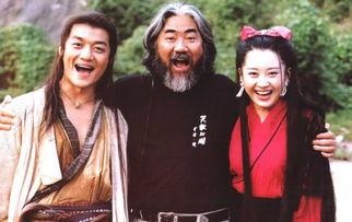 张纪中与《笑傲江湖》主演李亚鹏、许晴