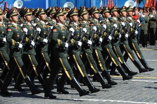 中国三军仪仗队亮相红场阅兵总彩排