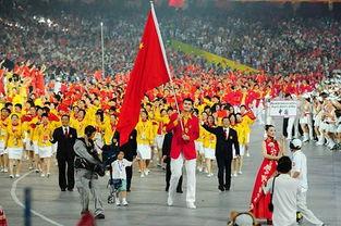 ...8月,姚明作为北京奥运会中国代表团旗手引领中国队入场.-体育画...