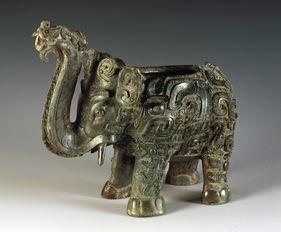 商代晚期青铜象尊 湖南省博物馆藏