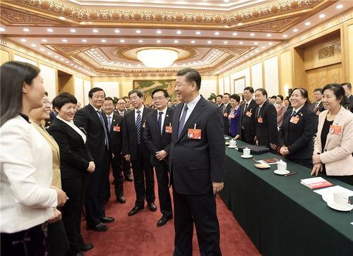 3月8日,习近平参加河南代表团的审议.