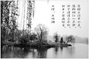 有关湖水的诗词