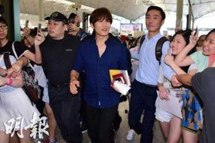南韩男星池城出境 向粉丝挥手道别 图
