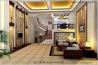 客厅中式楼梯设计