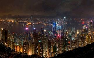 香港夜色风光美景高清电脑壁纸高清大图预览1920 1200 风景壁纸下载