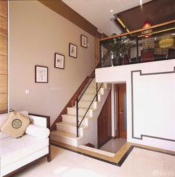 ...亚风格复式阁楼楼梯设计实景图