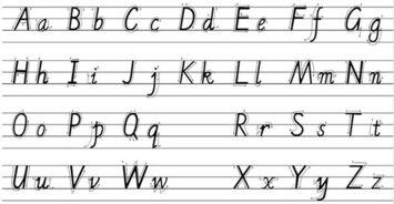 A B C D的大小写英文字母怎么写