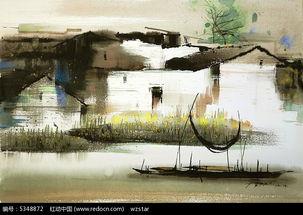 建筑水墨画图片免费下载 编号5348872 红动网
