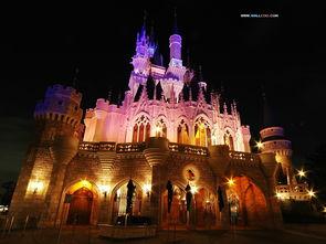 壁纸 香港迪士尼乐园梦夜景