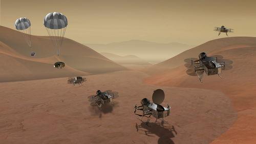 无人机登陆土卫六概念图来源:nasa