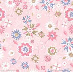 粉色系花朵无缝背景图片