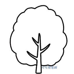 幼儿简笔画大树的画法