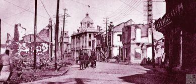 废墟里的金陵城,日军抢劫焚烧后的南京城街景
