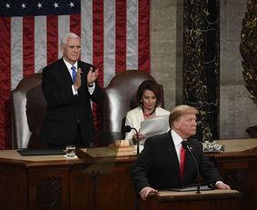 美国总统特朗普发表国情咨文