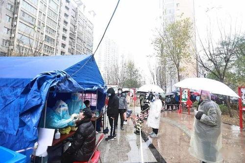 雨雪中全员核酸检测天津滨海,我们挺你
