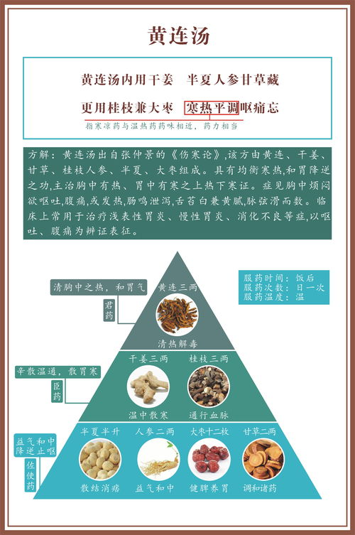 黄连汤证(186)  黄连汤和半夏泻心汤